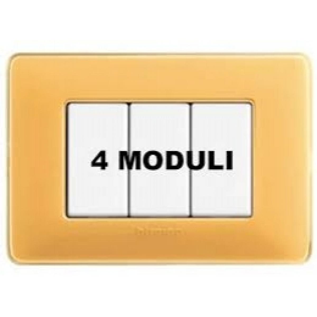 Placca 4 Moduli Ambra Bticino Matix AM4804CAB