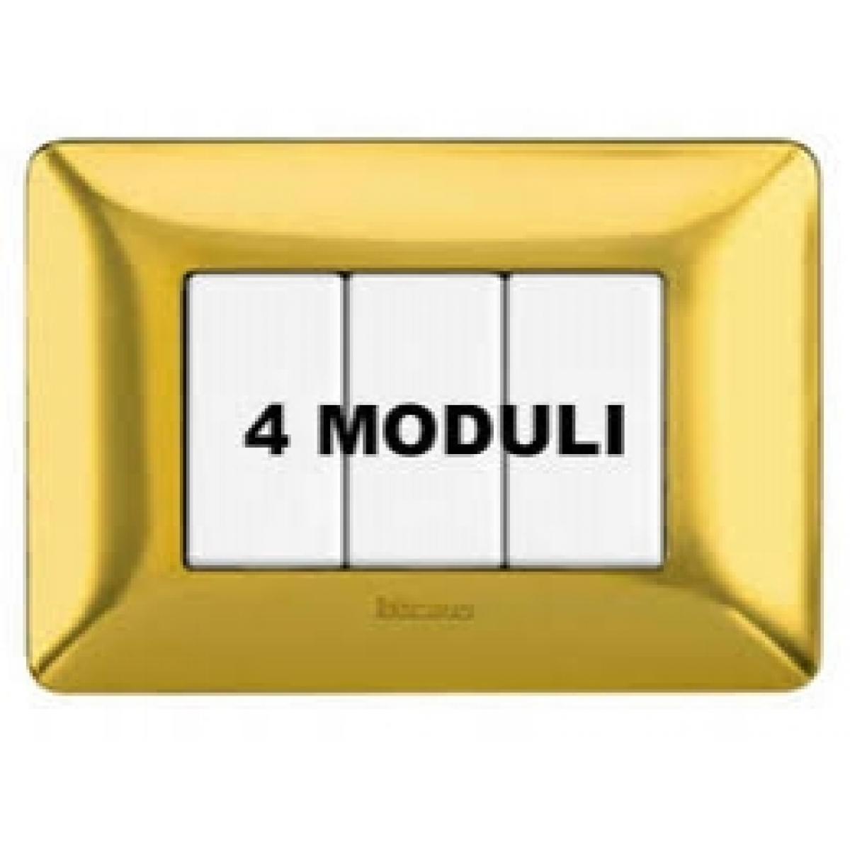Placca 4 Moduli Oro Lucido Bticino Matix AM4804GOR