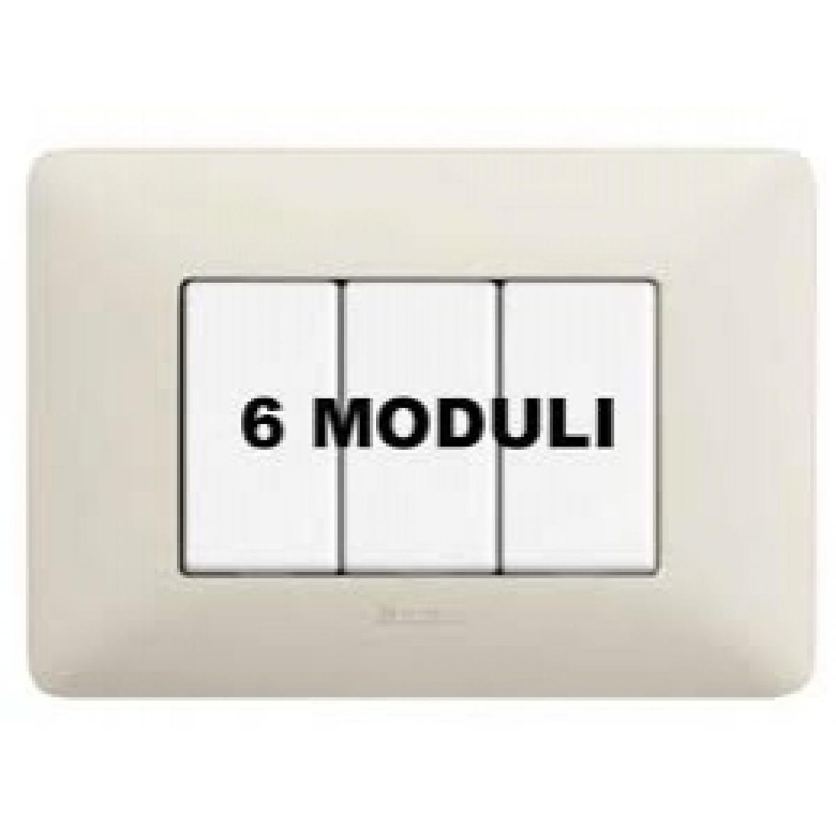 Placca 6 Moduli Cenere Bticino Matix AM4806BCN