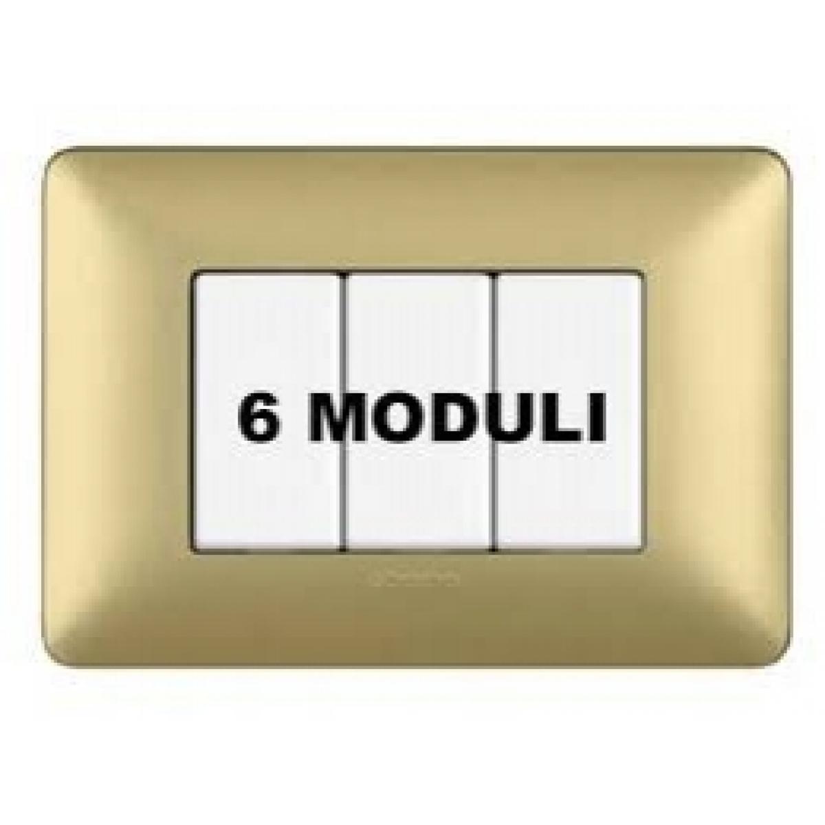 Placca 6 Moduli Gold Bticino Matix AM4806MGL