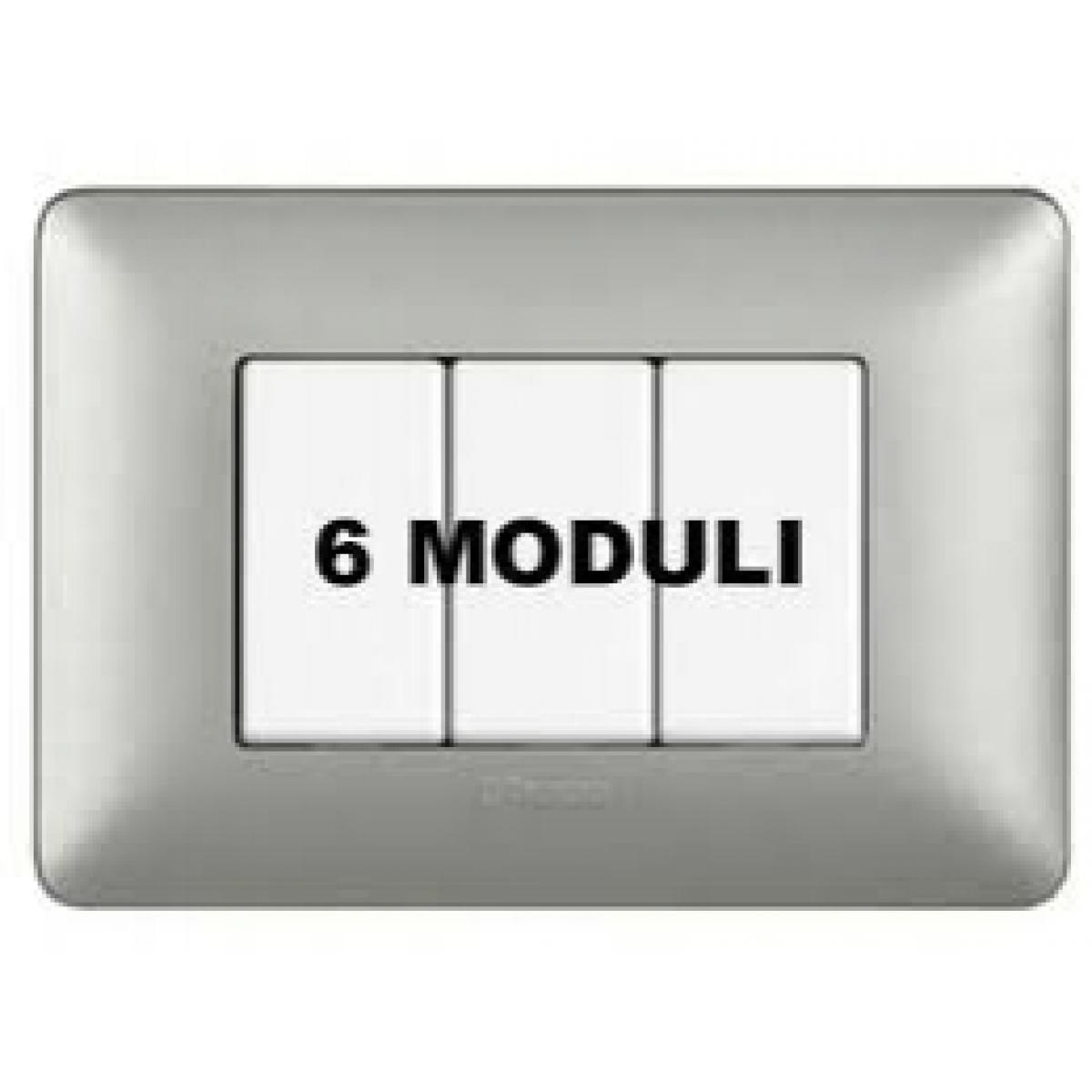 Placca 6 Moduli Silver Bticino Matix AM4806MSL
