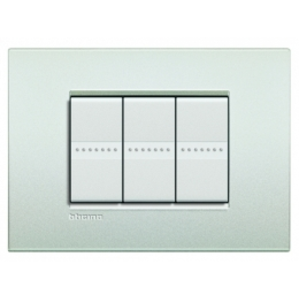 Placca 3 Moduli Bianco Perla Bticino Living Air LNC4803PR