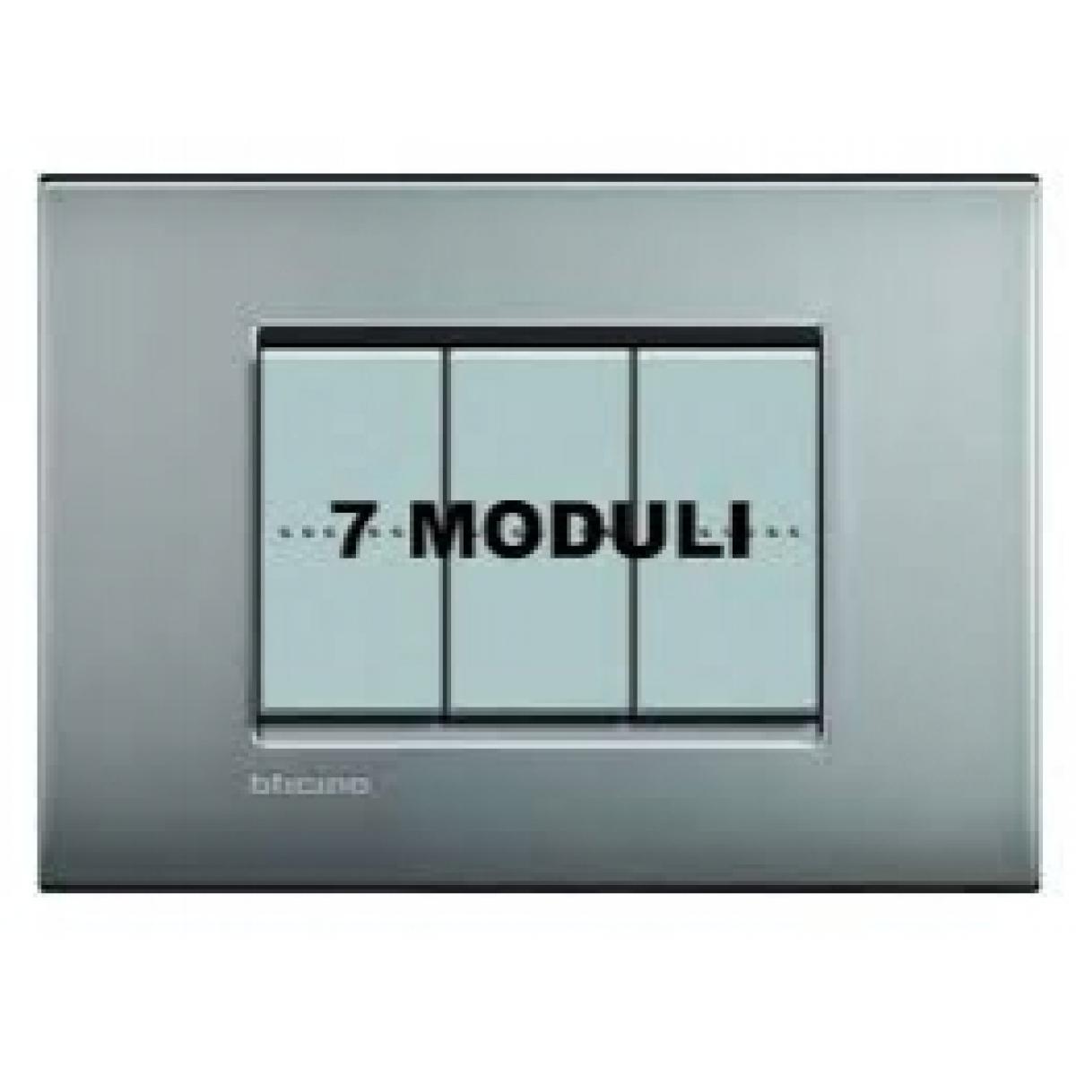 Placca 7 Moduli Nickel Mat Bticino Living Air LNC4807NK