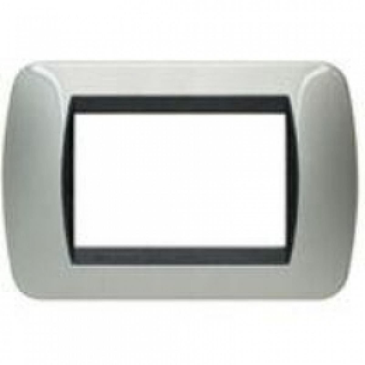 Placca 3 Moduli Alluminio Bticino Living International L4803AL