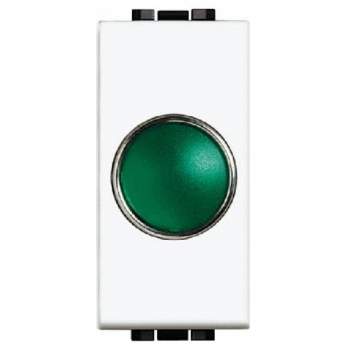 Portalampada Spia Verde Bticino Living Light N4371V