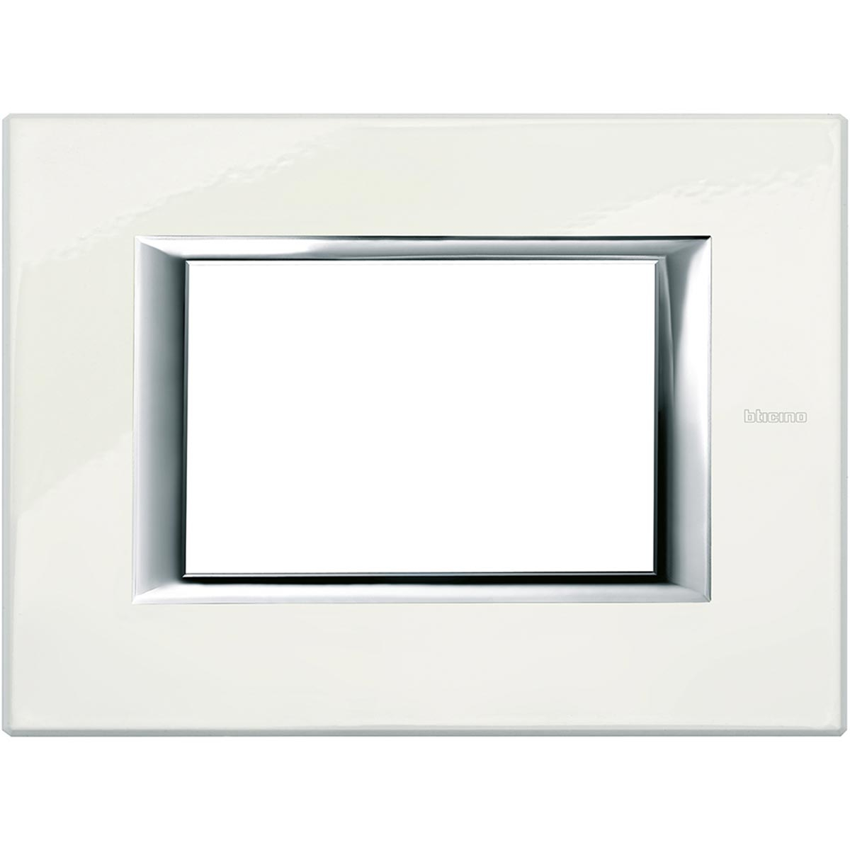Placca 3 Posti Bticino Axolute Bianco Limoges HA4803BG