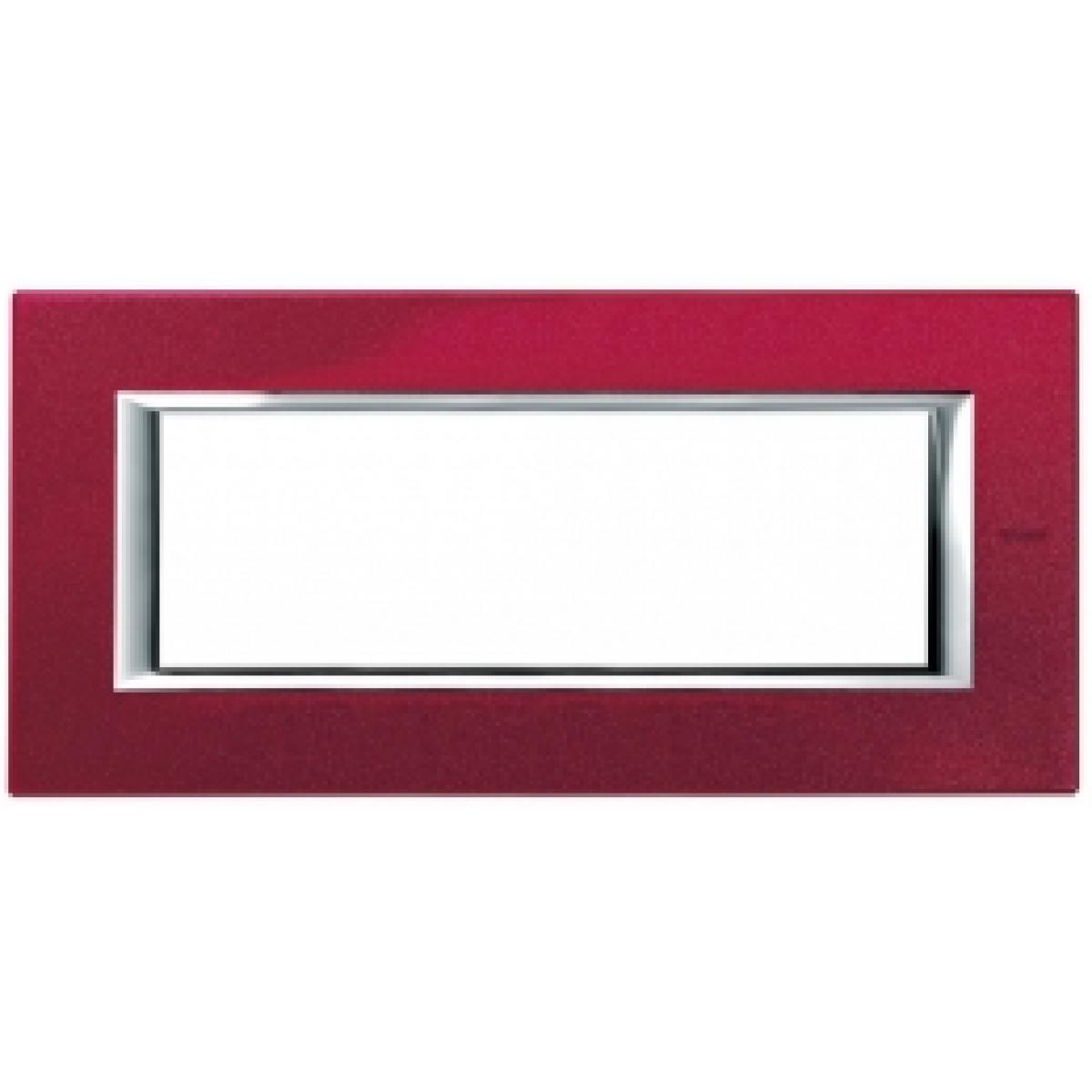 Placca 6 Posti Bticino Axolute Rosso China HA4806RC