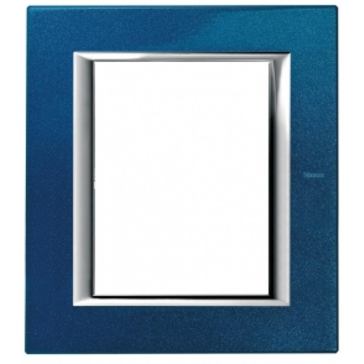 Placca 3+3 Bticino Axolute Blu Meissen HA4826BM