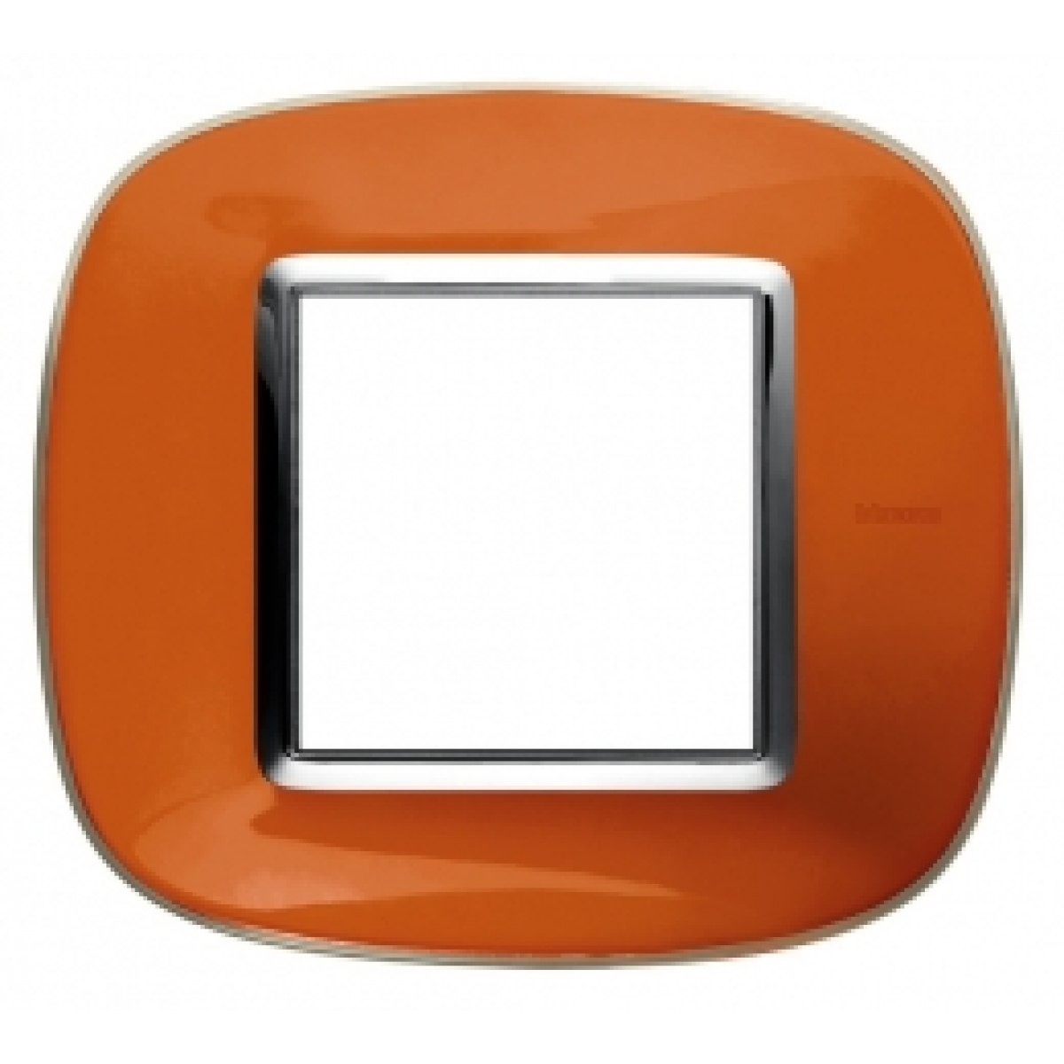 Placca Ovale 2 Posti Bticino Axolute Arancio Liquido HB4802DR