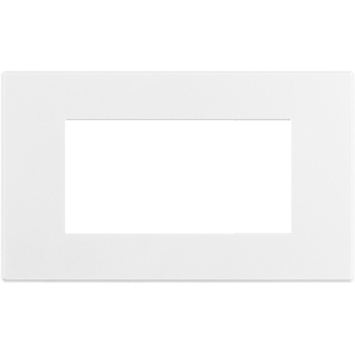 Placca 4 Posti Bticino Axolute Air Bianco Opaco HW4804AW