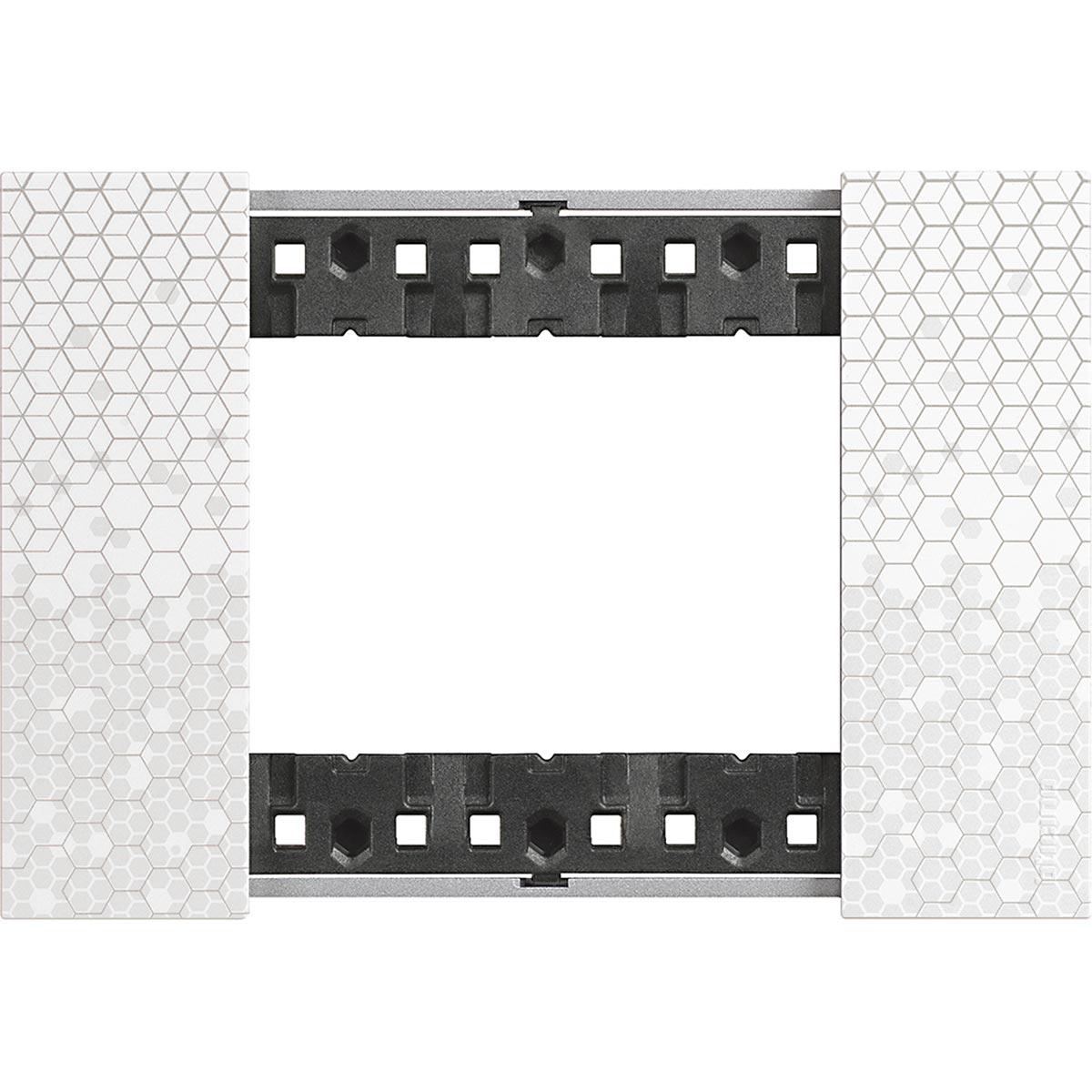 Placca 3 Moduli Bticino Living Now Pixel KA4803MW
