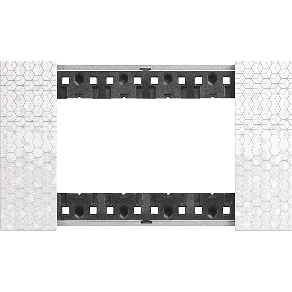 Placca 4 Moduli Bticino Living Now Pixel KA4804MW