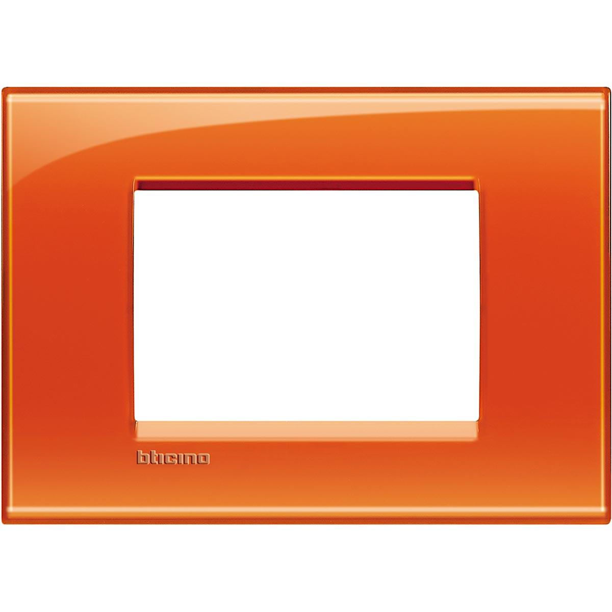 Placca 3 Moduli Arancio Deep Bticino Living International LNA4803OD