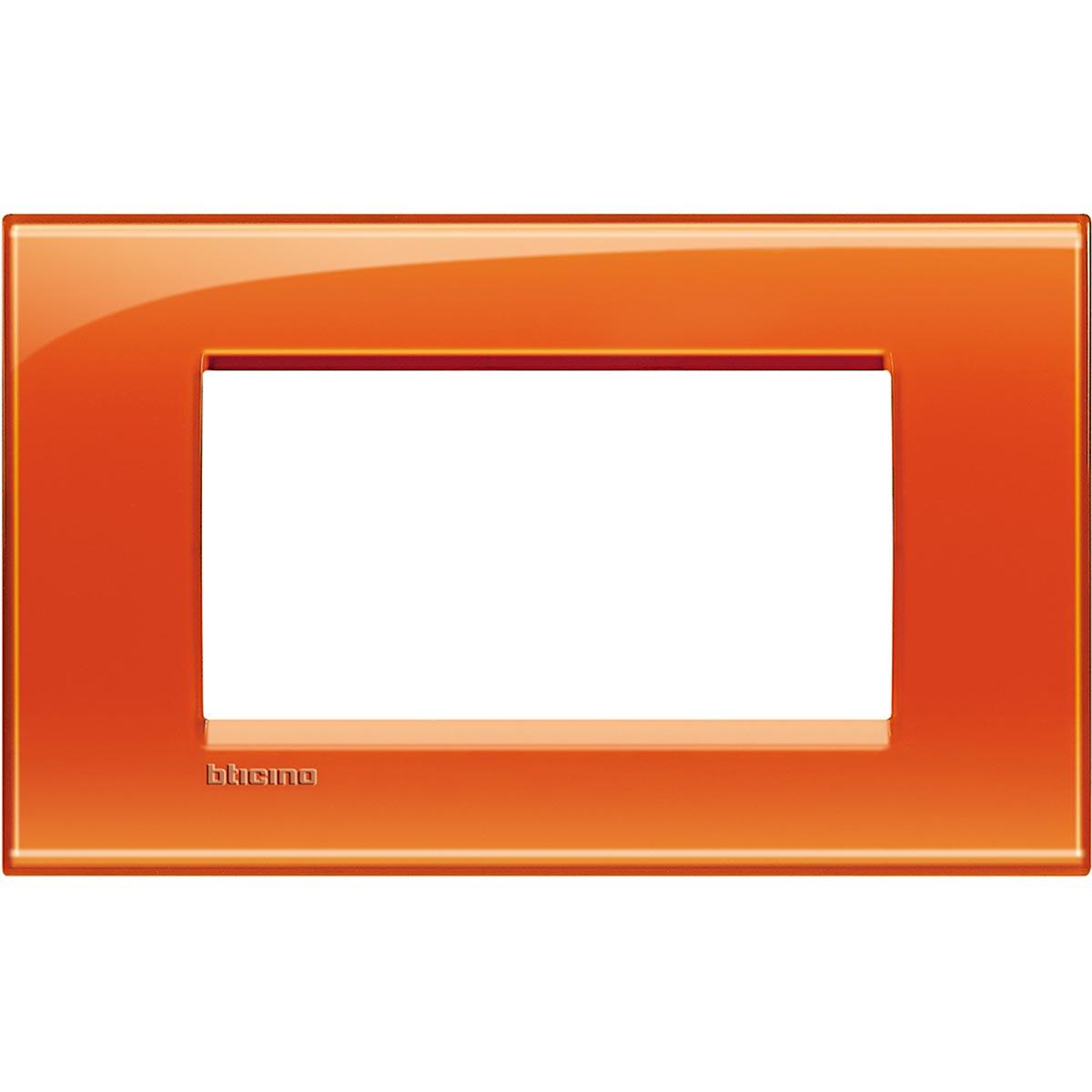 Placca 4 Moduli Arancio Deep Bticino Living International LNA4804OD