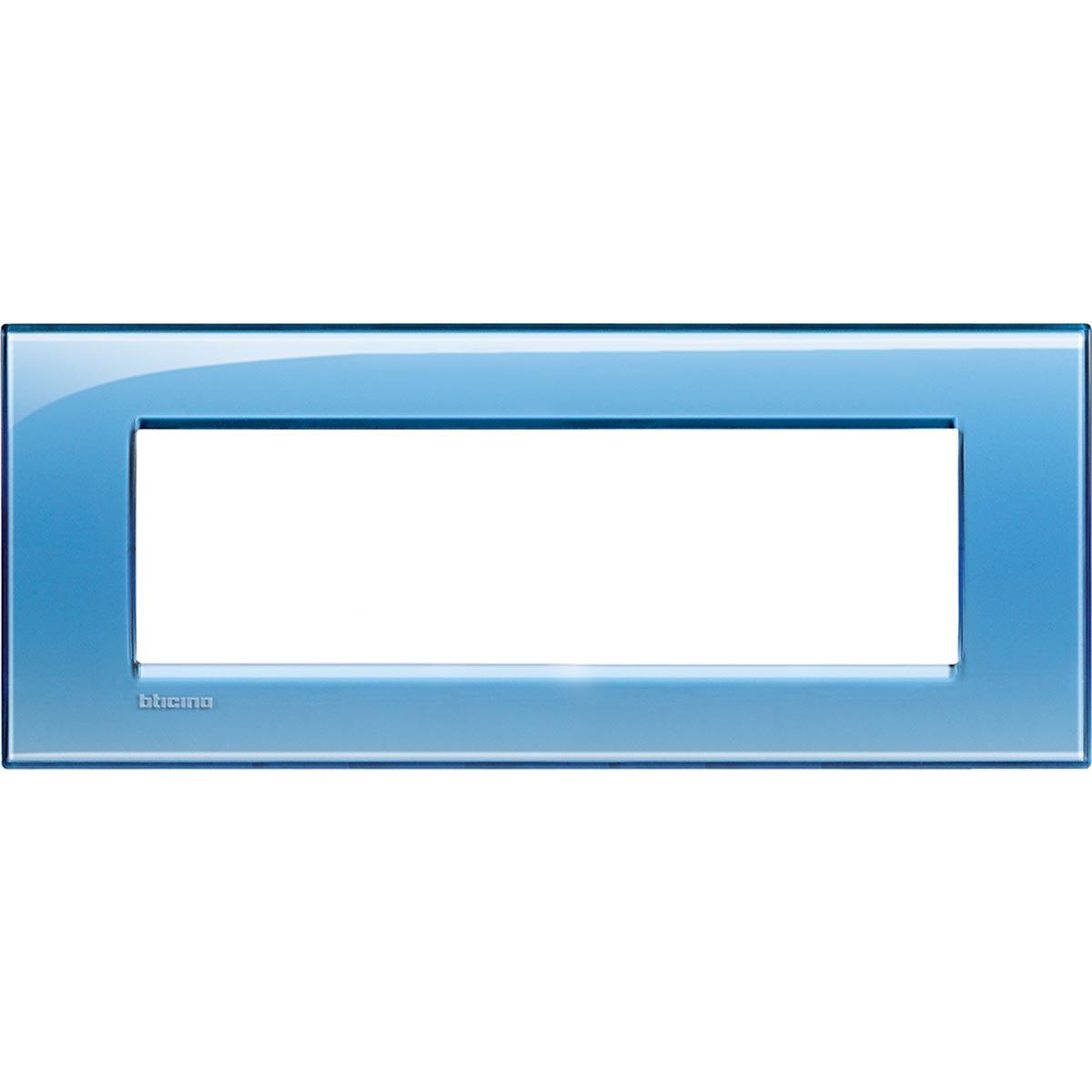 Placca 7 Moduli Azzurro Deep Bticino Living International LNA4807AD