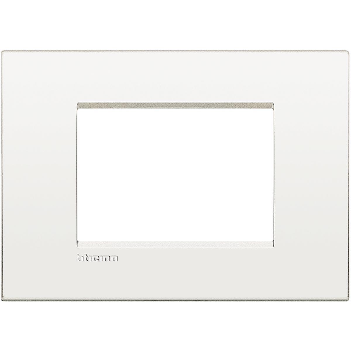 Placca 3 Moduli Bianco Puro Bticino Living Air LNC4803BN