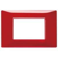Plana vimar placca 3 posti reflex  colore rubino 14653.51