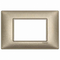 Placca 3 posti bronzo metallizzato 14653.70 vimar plana