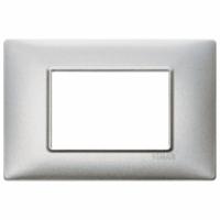 Plana vimar placca 3 posti  colore argento metallizzato 14653.71