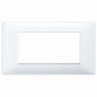 Placca 4 posti bianco 14654.01 vimar plana
