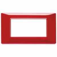 Placca 4 posti reflex rubino 14654.51 vimar plana
