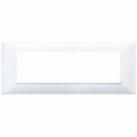 Placca 7 posti bianco 14657.01 vimar plana