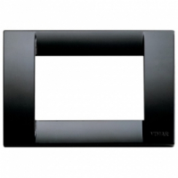 Idea vimar placca classica 3 posti colore nero 16743.16