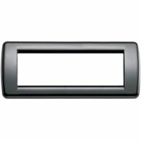 Idea vimar placca rondo 6 posti colore nero 16766.11