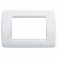 Idea vimar placca rondo 3  posti colore bianco brillante16763.01