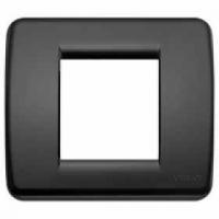 Idea vimar placca rondo 1/2 posti colore nero 17098.16