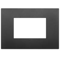 placca classic vimar arkè 19653.71 3 posti colore nero