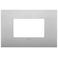 placca classic vimar arkè 19653.79 3 posti colore silver matto