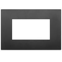 placca classic vimar arkè 19654.71 4 posti colore nero