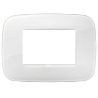placca round vimar arkè 19683.66 3 posti reflex colore ghiaccio
