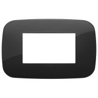placca round vimar arkè 19683.81 3 posti colore nero