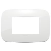 placca rondo vimar arkè 19683.84 3 posti colore bianco