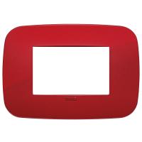 placca round vimar arkè 19683.85 3 posti colore rosso