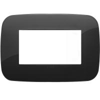 placca round vimar arkè 19684.81 4 posti colore nero