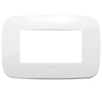 placca round vimar arkè 19684.84 4 posti colore bianco