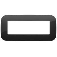 placca round vimar arkè 19687.81 7 posti colore nero