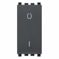 Eikon vimar interruttore 2 poli 16ax colore grigio 20015