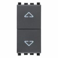 Eikon vimar due pulsanti interbloccati no+no 10a colore grigio 20062