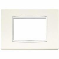 Eikon  vimar  placca classic 3 posti colore bianco artico 20653.B01