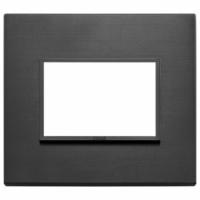 Eikon vimar  placca 3 posti colore nero totale 21653.18