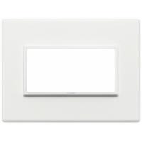 Eikon evo vimar  placca 4 posti colore bianco totale 21654.17