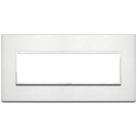 Eikon evo vimar  placca 7 posti colore alluminio brillante 21657.01