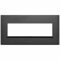 Eikon evo vimar  placca 7 posti colore nero totale 21657.18