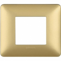 Placca 2 Moduli Gold Bticino Matix AM4802MGL