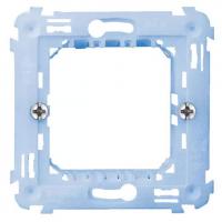 armatura ave 44a02 1-2 moduli per scatola tonda 60 mm con griffe laterali componibile con interasse