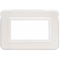 placca personal ave 44p04b 4moduli colore  bianco lucido ral 9010